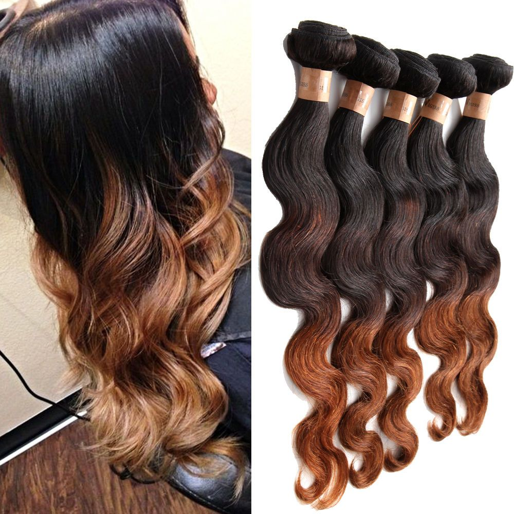 Ombre Human Hair Extension 3 Tone Color 1b 4 30 Body Wave 3bundles Hair Hot Wavy Human Hair Extensions Human Hair Extensions Ombre Human Hair Extensions