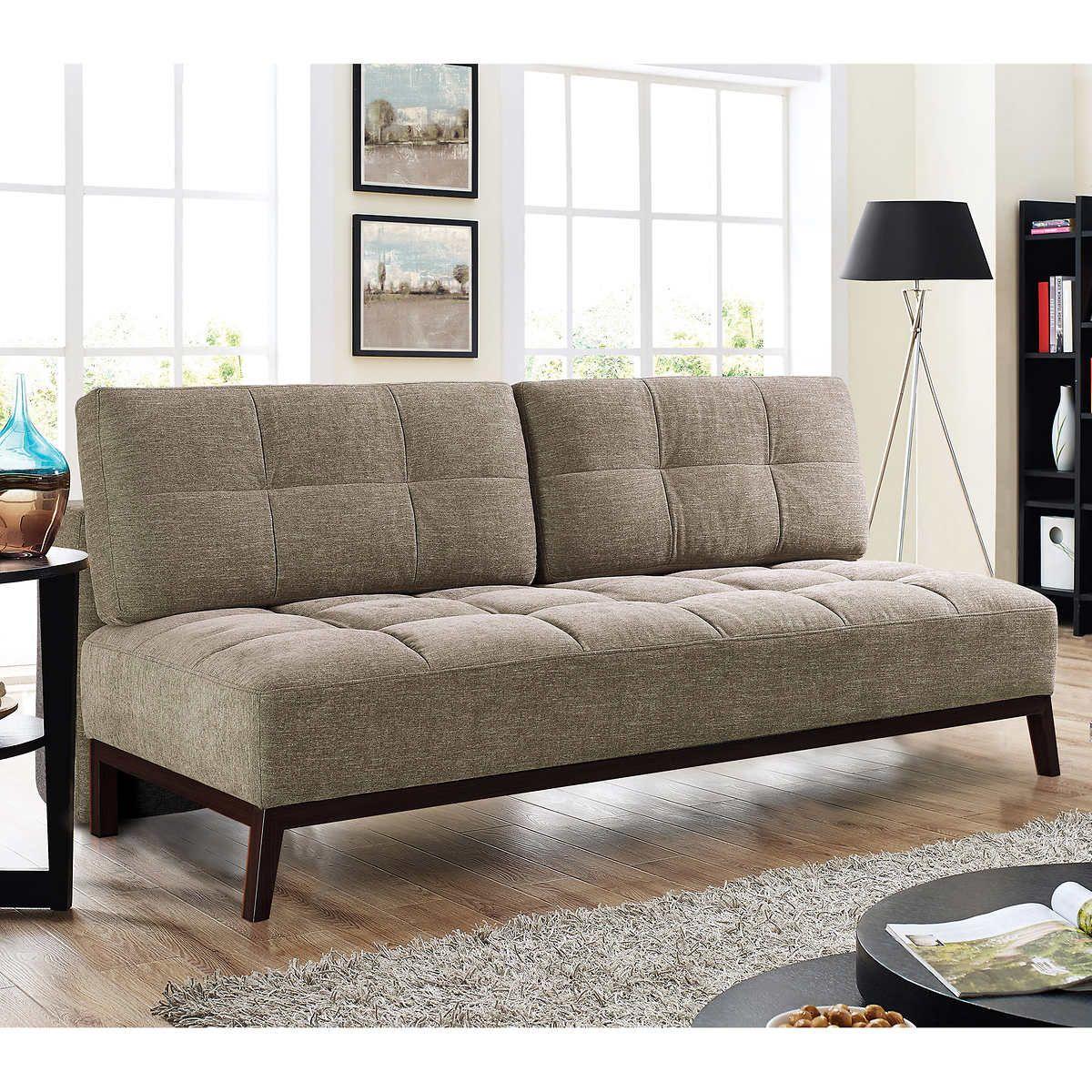 Costco Beautyrest fabric sleeper sofa for living room