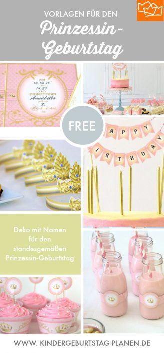 Prinzessin Geburtstagsthema Party 90+ Ideen ⋆ Kindergeburtstag-Planen.de   – Laura