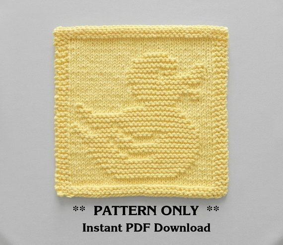 Rubber Duck Knitting Pattern Pdf Instant Download Rubber Duck