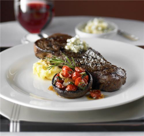 Grilled NY Strip Steak from our signature steakhouse Chops Grille. #food #RoyalCaribbean #cruising