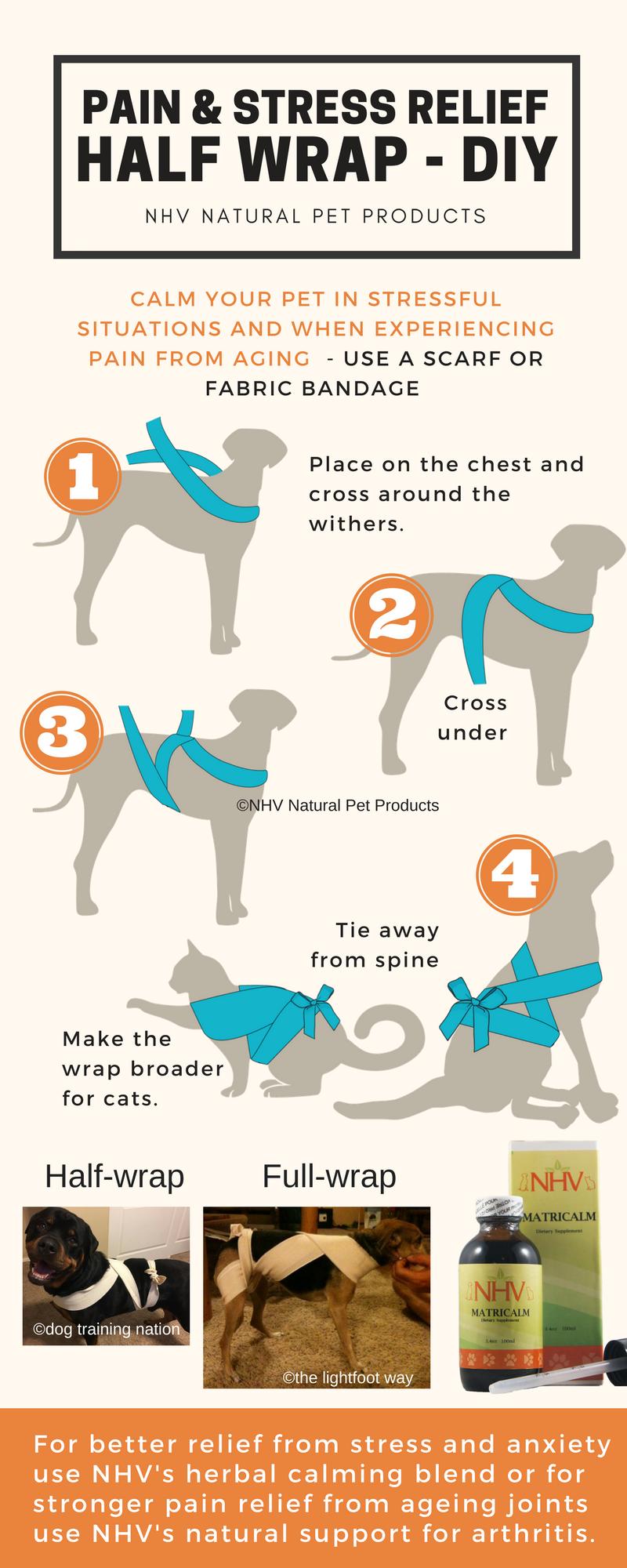 Pain & stress relief halfwrap DIY Calm your pet in
