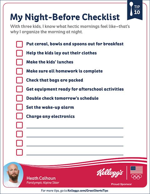 Making Mornings Easier with Kids | School, School checklist and ...