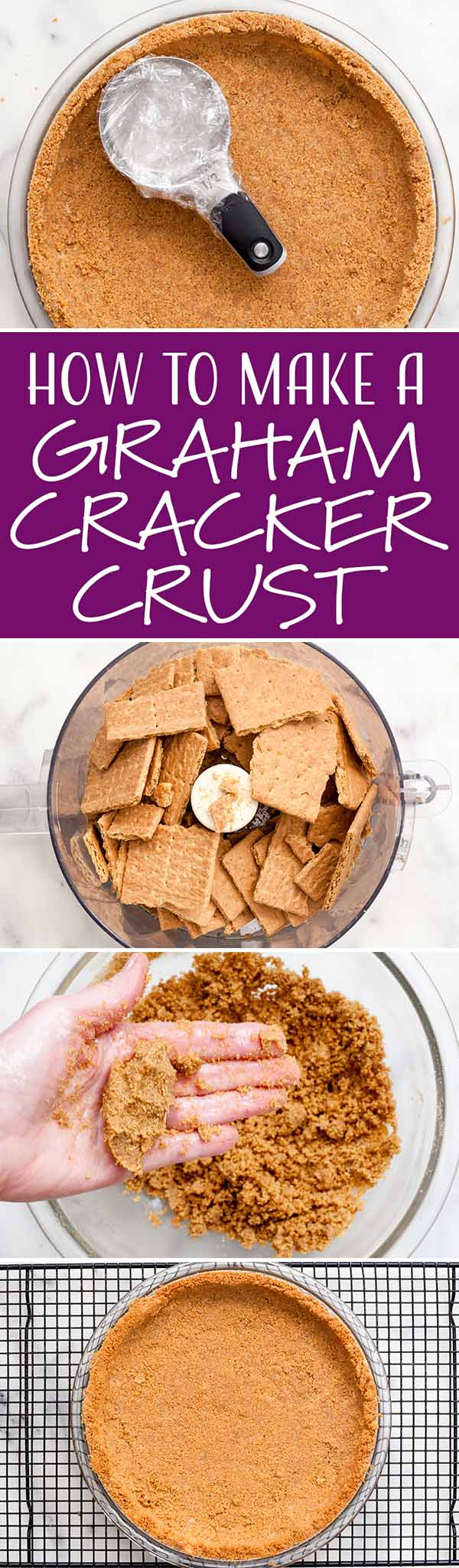 Easy Graham Cracker Crust #homemadegrahamcrackercrust How to Make a Graham Cracker Crust! It's not hard at all—and it comes together quickly. Use this recipe to make cream pies, key lime pie, cheesecake, or any other pie that could use a graham cracker crust! #grahamcrackercrust #piecrust #pie #simplyrecipes #homemadegrahamcrackercrust