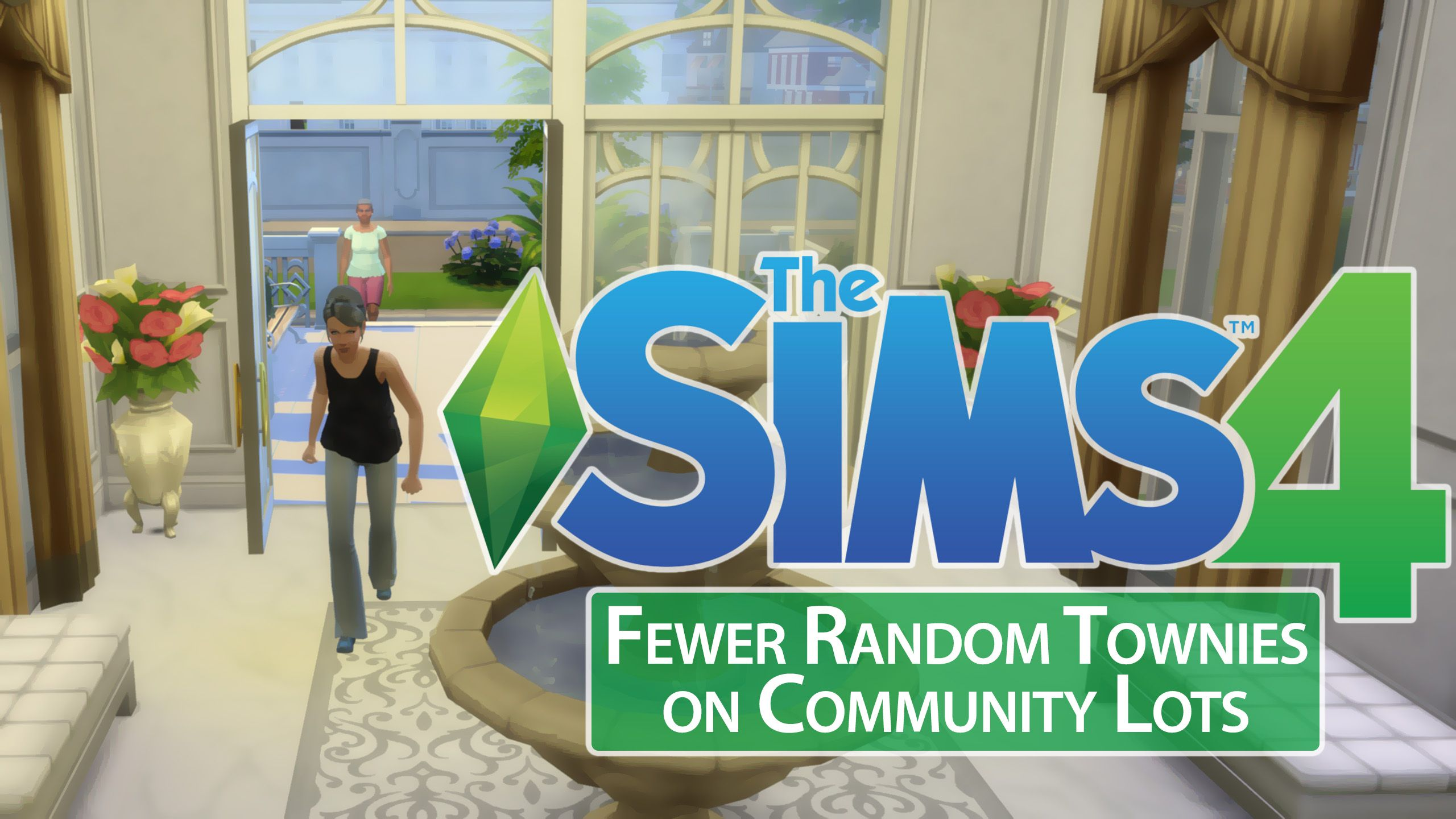 This mod makes random townies less likely to appear on community