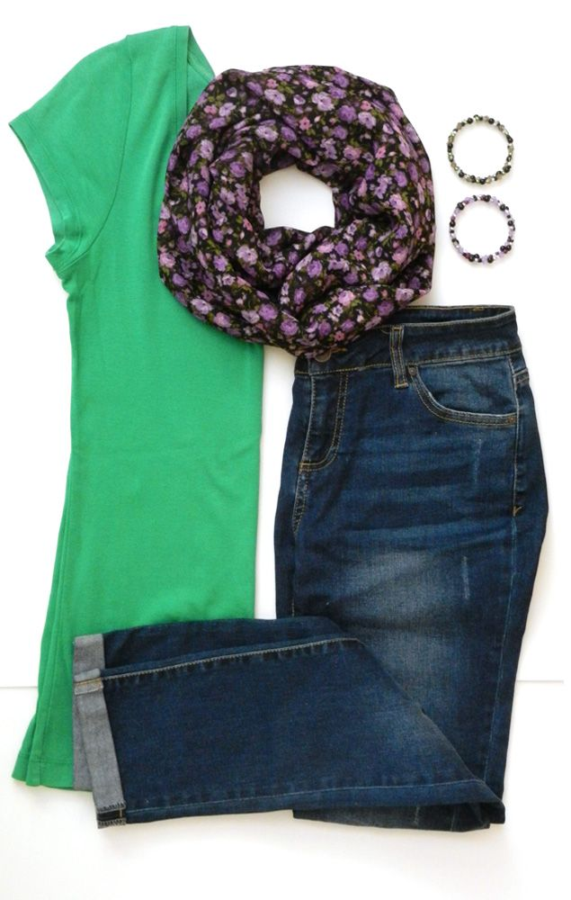 5d1caf95b This medium weight purple floral infinity scarf is the perfect accessory to  complete your outfit! | Style Inspiration | Memory wire bracelets by Three  ...