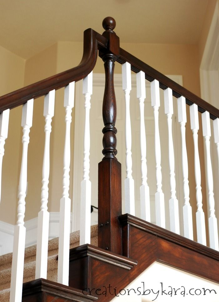 Best General Finishes Java Stain Transformed My Oak Banister 400 x 300