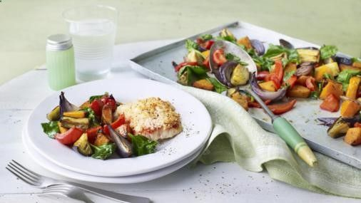 Bbc food recipes roasted tomato cod with mediterranean bbc food recipes roasted tomato cod with mediterranean vegetables forumfinder Images