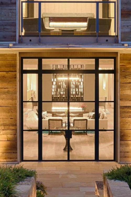 The Mondrian External Series Is A Range Of Crittall Style Metal Windows And Doors Designed To Recreate Th Steel Door Design Door Design Modern Exterior Doors