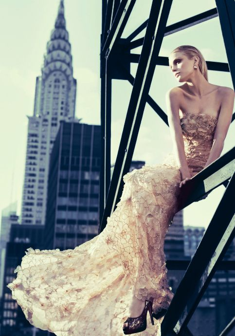 Chrysler Building and Haute-Couture - love the photo