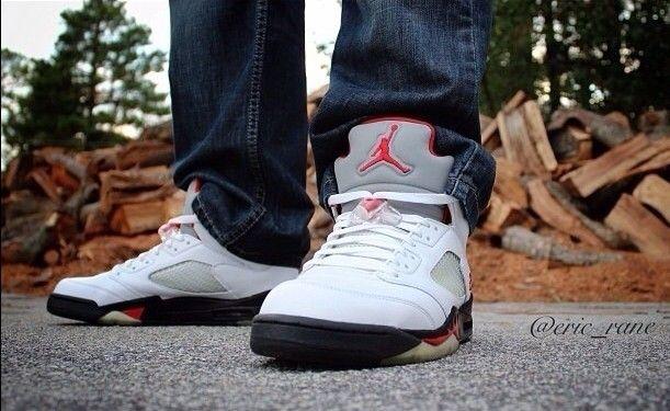 the best attitude 39dbd 1e4b2 Fire Red' Jordan 5 with #3M Tonue on feet. #jordan #jordan23 ...