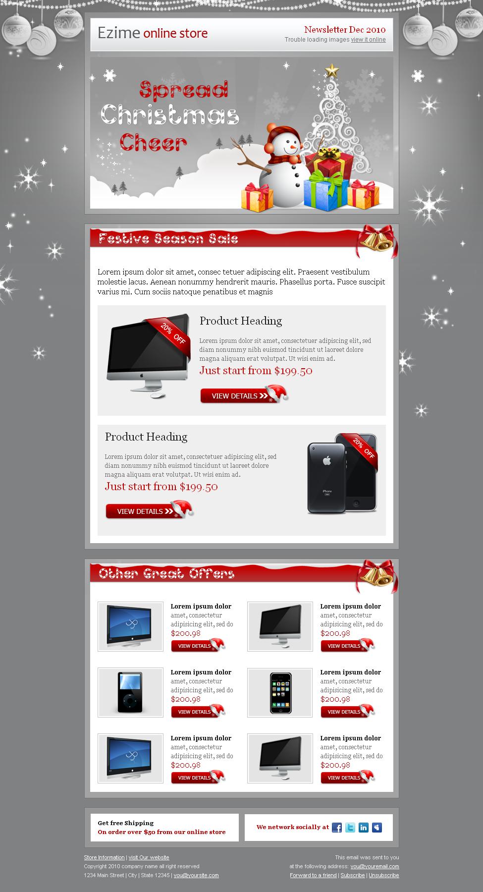 free christmas newsletter templates online