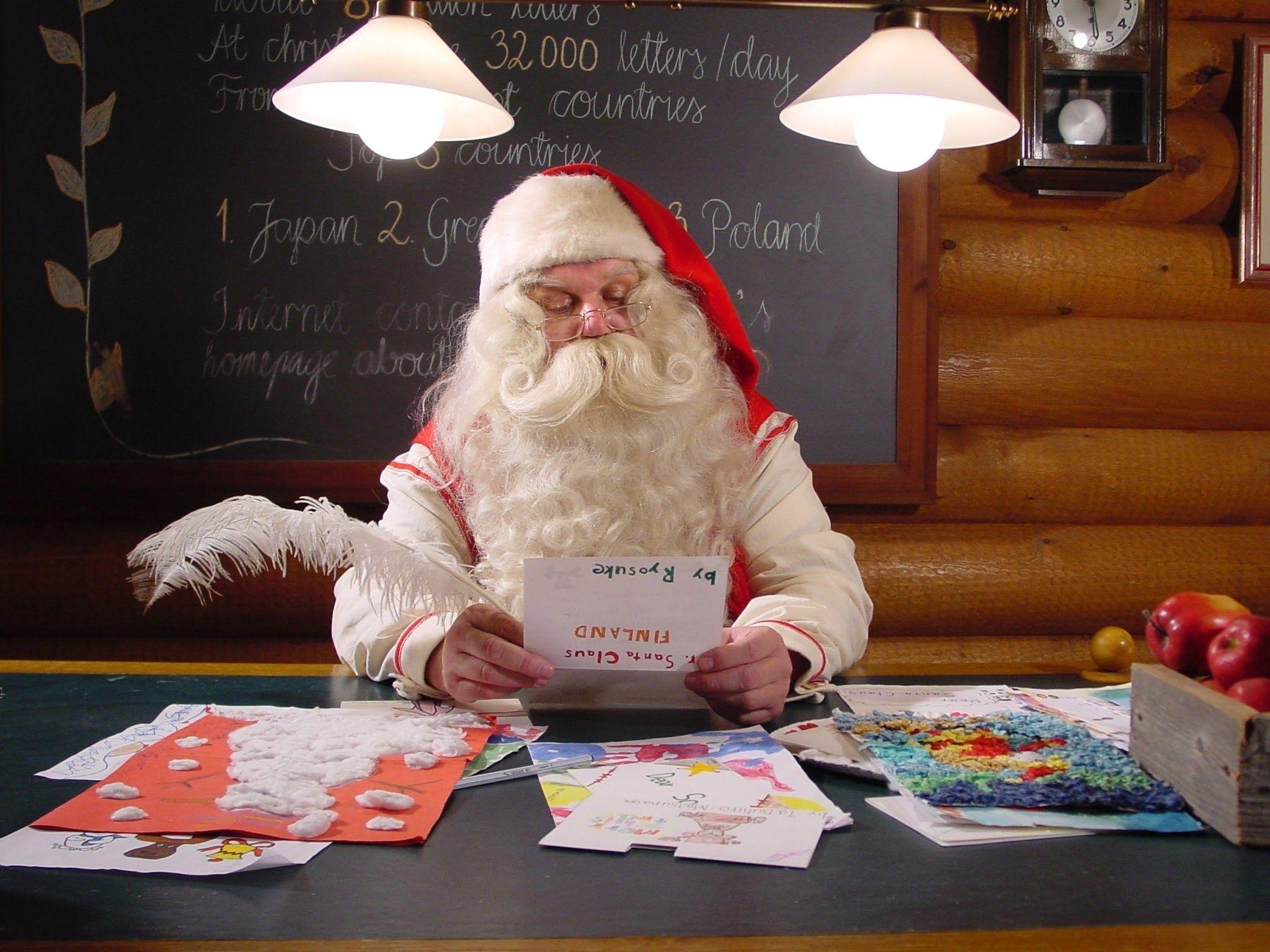 Babbo Natale 7 Cervelli.Lettre Au Pere Noel Letter To Santa Claus 人物照片 Santa Claus