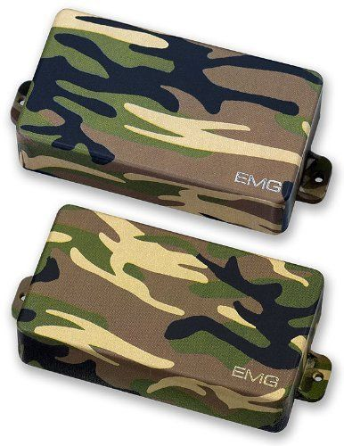 EMG 81/85 Active Guitar Pickup Set Camo Covers by EMG