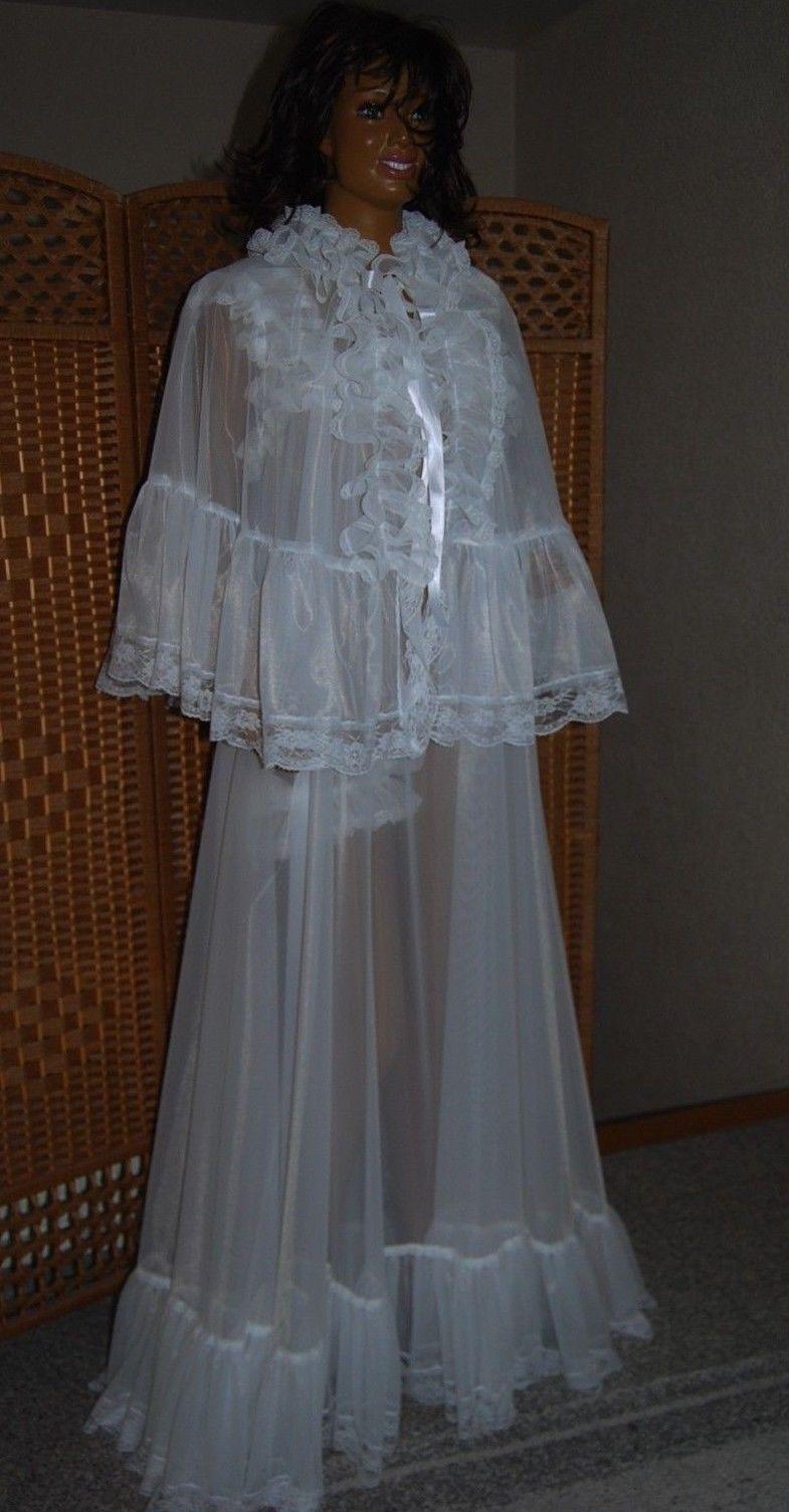 TRAUM Nylon Negligee Cape Vintage XXL Sissy Hochzeit ...