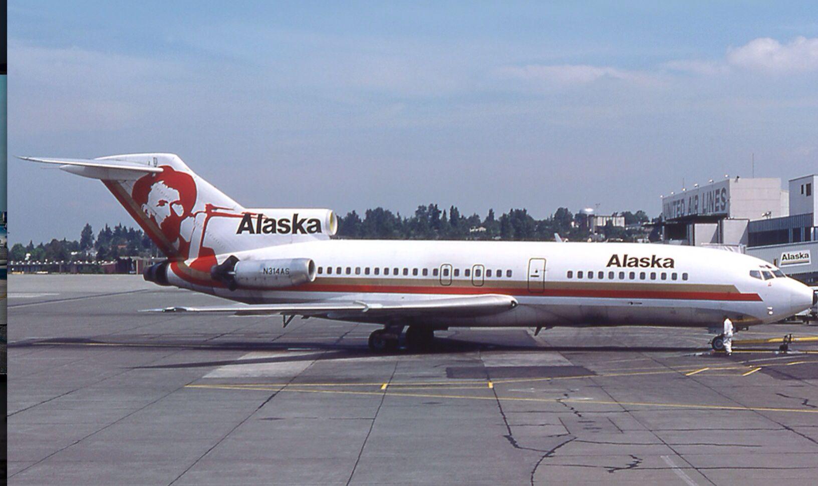 Alaska Airlines 727 1977 Alaska airlines, Boeing 727