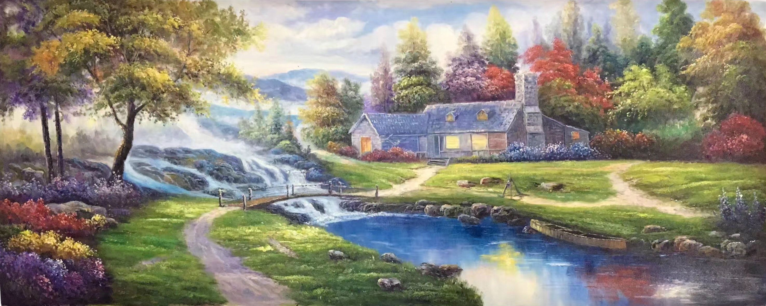 American countryside Landscape painting high quality Sitting-room ... for Countryside Landscape Paintings  45gtk