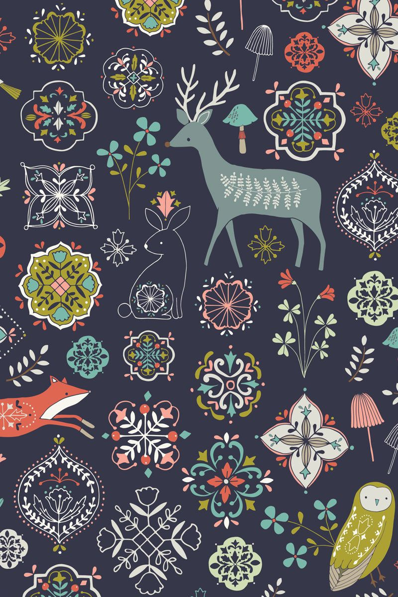 Parkside Paper Gift - Holiday Gift Wrap - Nordic Forest, $4.99