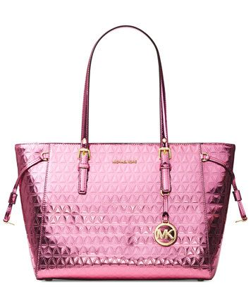 a1b40853645e6 MICHAEL Michael Kors Voyager Specchio Multi-Function Top Zip Medium Tote