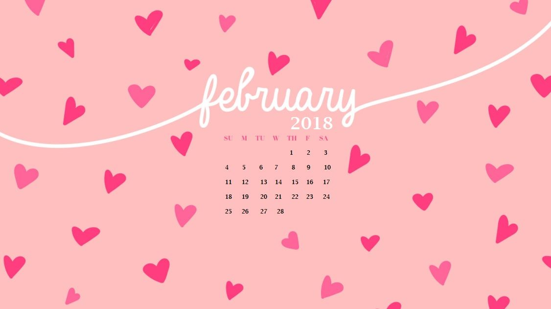 february 2018 cute hd calendar maxcalendars pinterest desktop