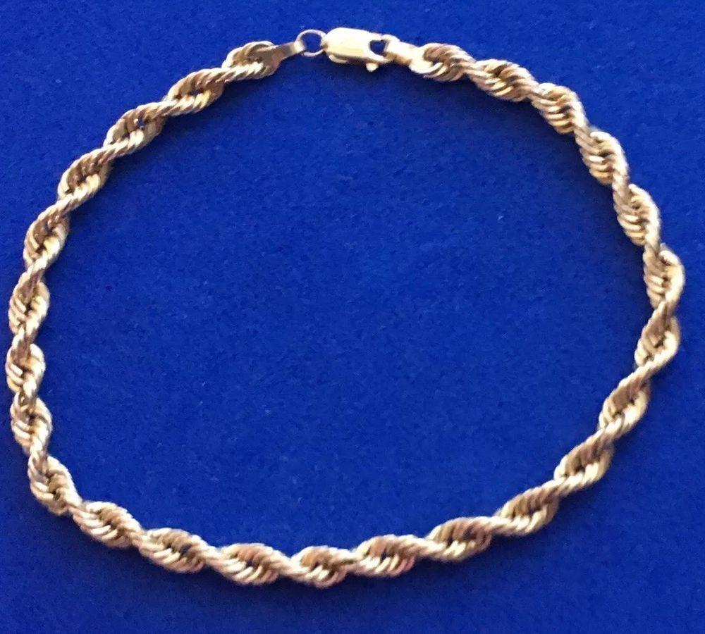 Vintage michael anthony k yellow gold rope bracelet