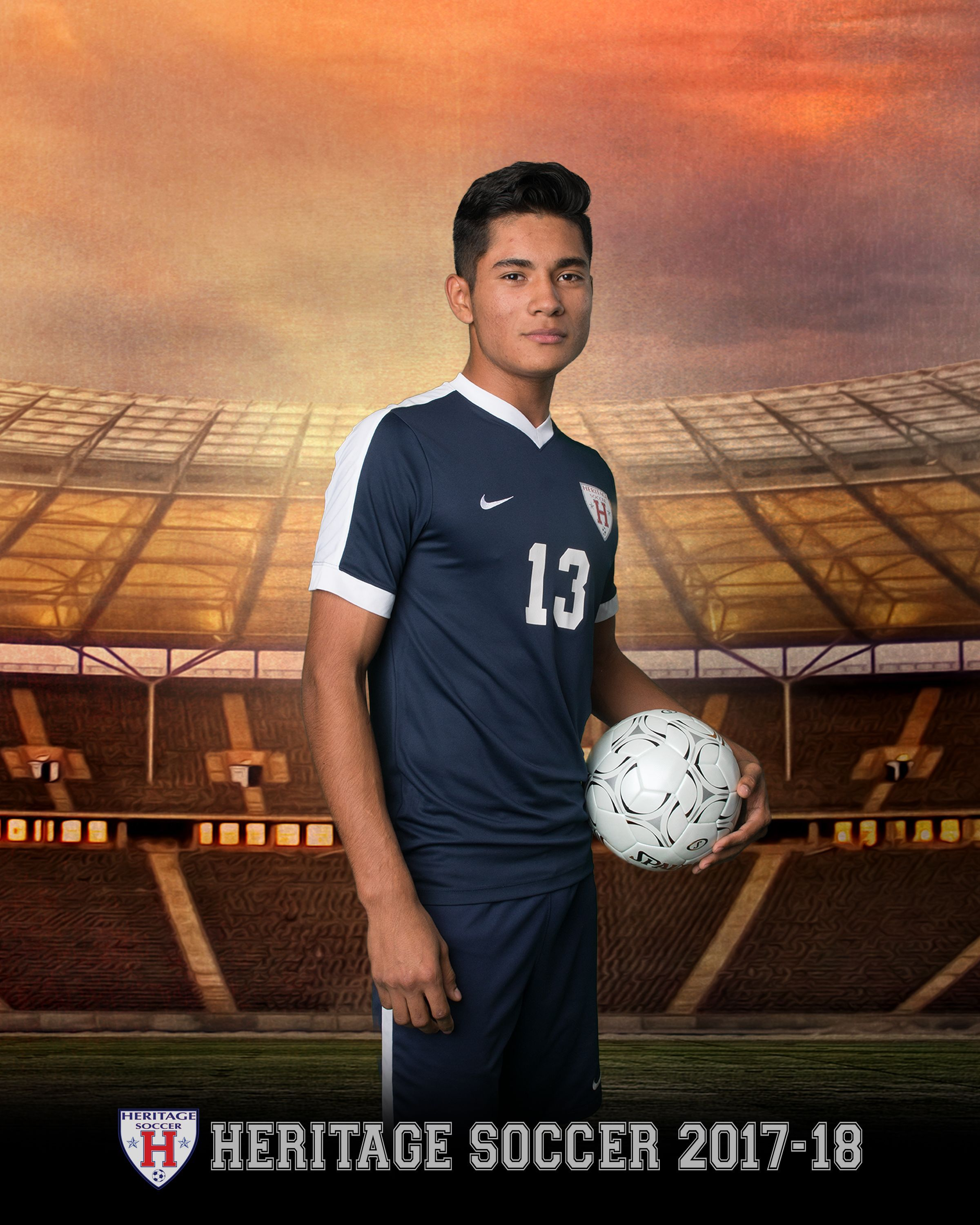 Heritage High School Boys Soccer Team and Individual Photos
