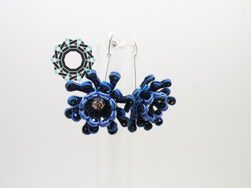 soutache earrings / kolczyki soutache Alina Tyro-Niezgoda Tender December