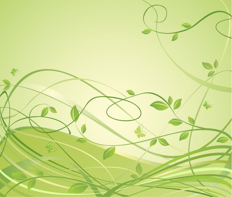 Abstract Floral Green Background Free Vector Graphics All Free