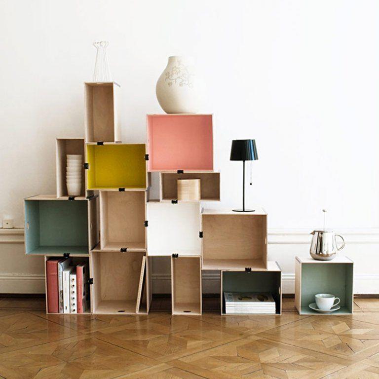 DIY déco : 22 manières de (ré)utiliser les caisses en bois | Rangement maison, Mobilier de salon ...