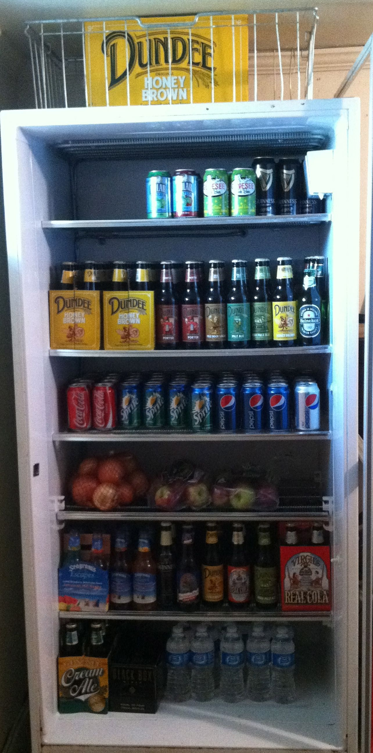 Garage Fridge: Repurpose Your Old Freezer. Remove The Door And Use For