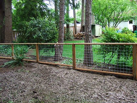 Wood Framed Wire Fences