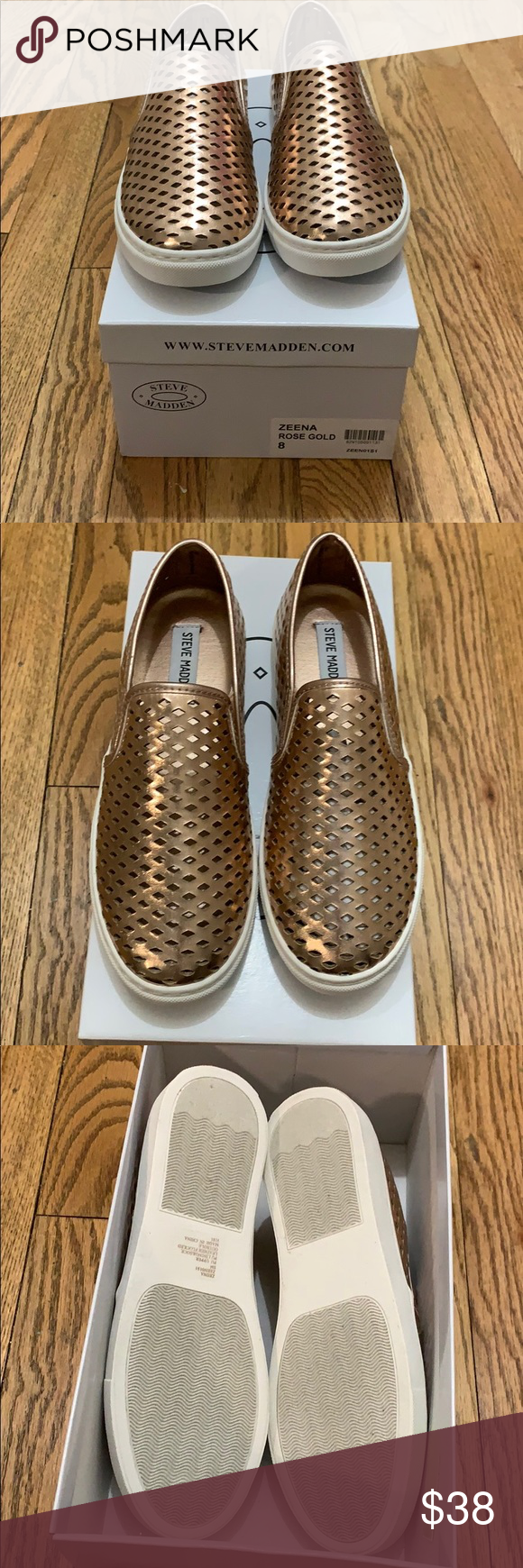 ad5d9771fd5 Steve Madden Zeena Rose Gold Slip On Sneakers New with box! Only worn at  home