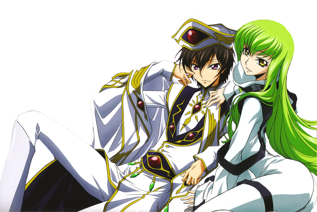 Lelouch and CC - Render by Uchiwa208 on DeviantArt