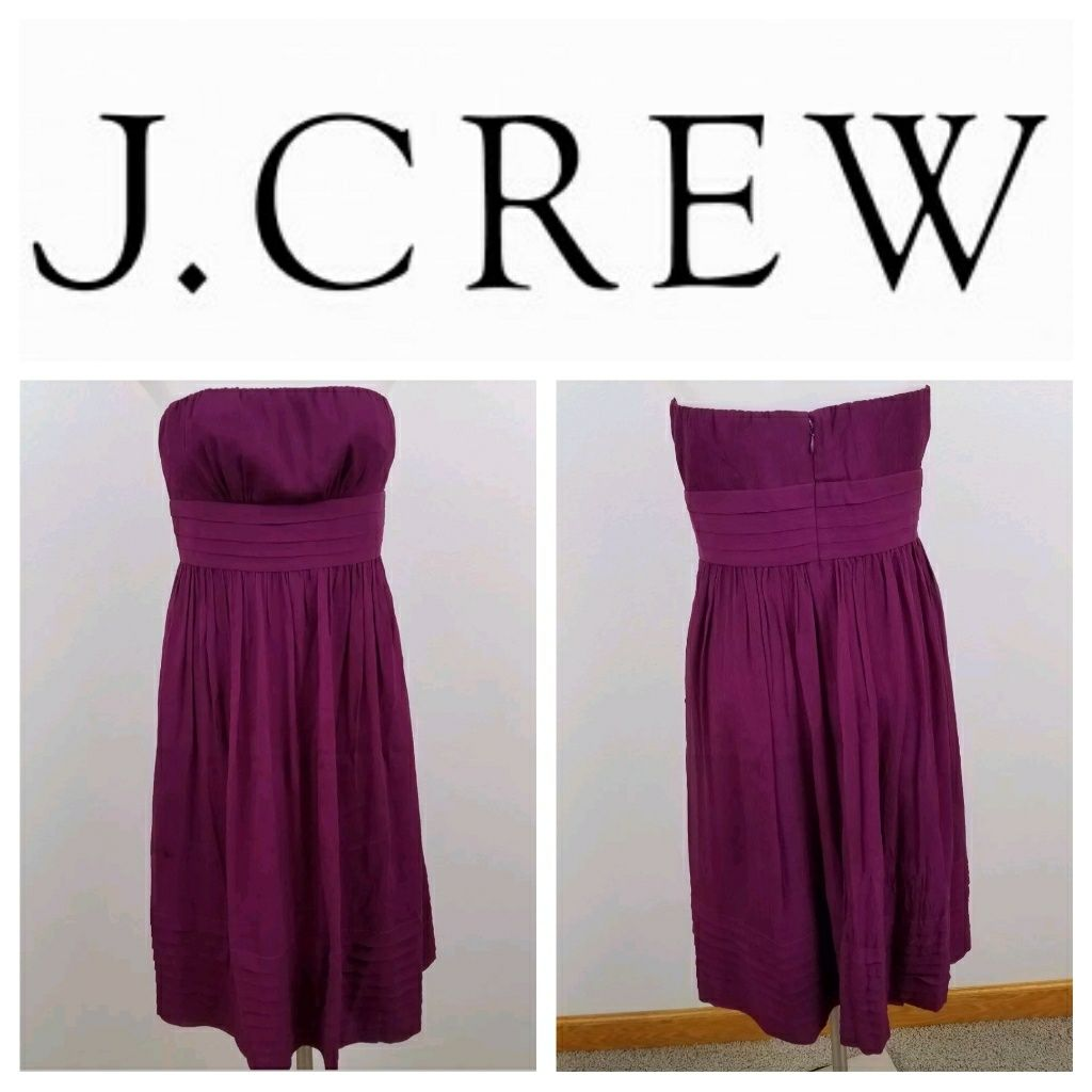 J crew pink strapless silk dress products