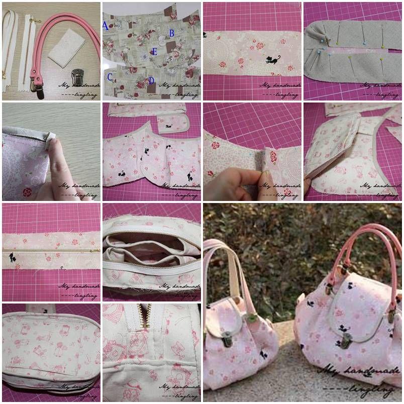 Diy Elegant Fabric Handbag With Images