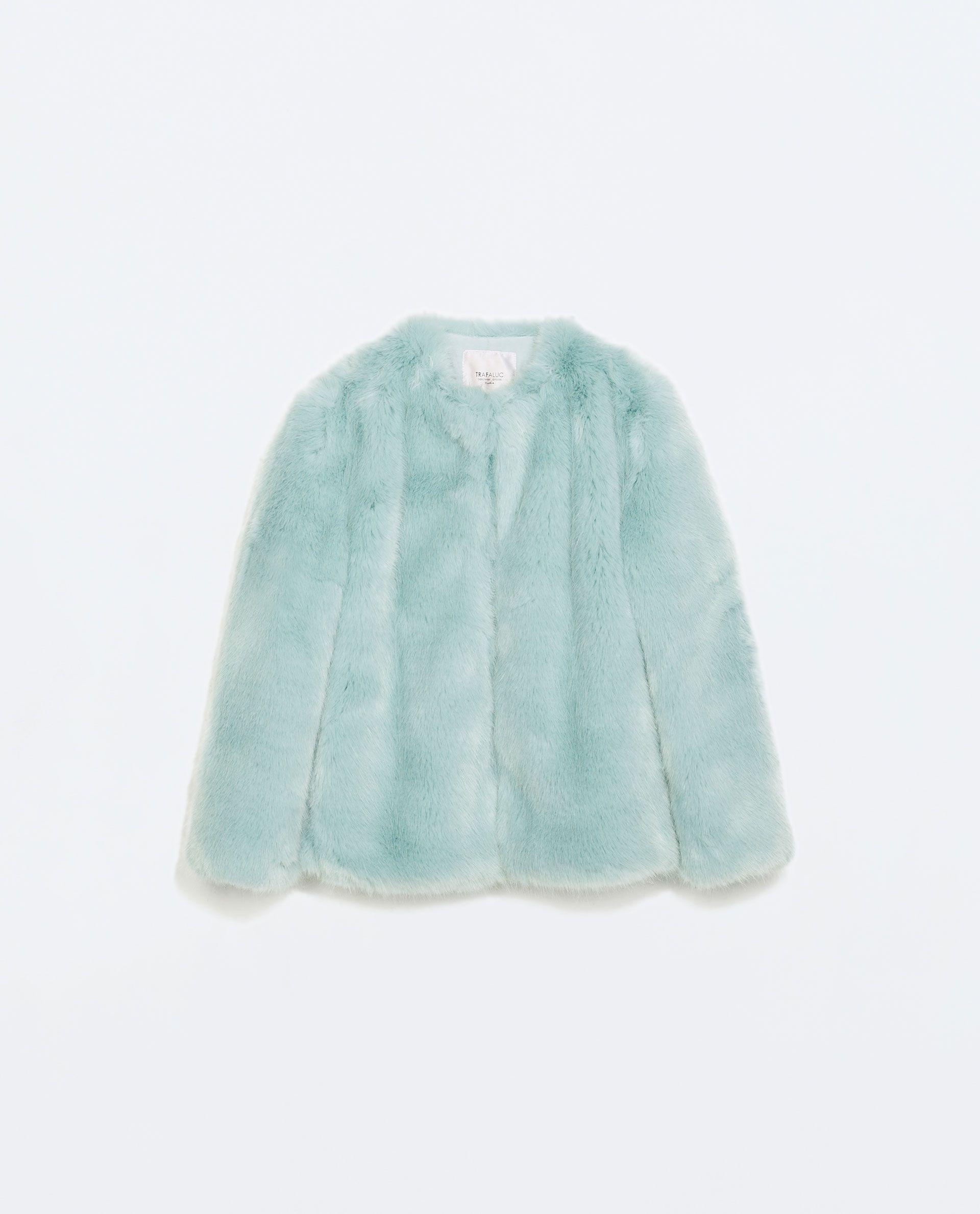 Baby Blue Faux Fur Coat Blue Faux Fur Coat Colorful Fur Coat Fur Coat Vintage