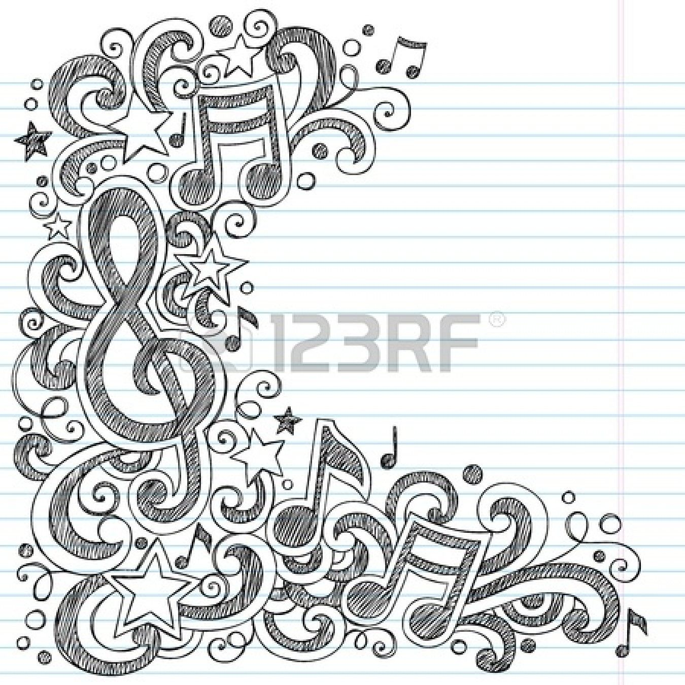 Music Notes G Clef Stockfoto