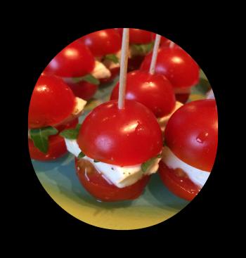 Des idées faciles pour l'apéro…   Tomates cerises, Biscuit ...