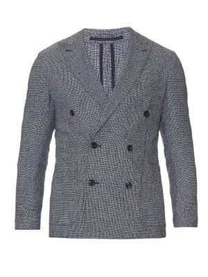 Double-breasted wool and cotton-blend blazer   AC Cantarelli   MATCHESFASHION.COM US