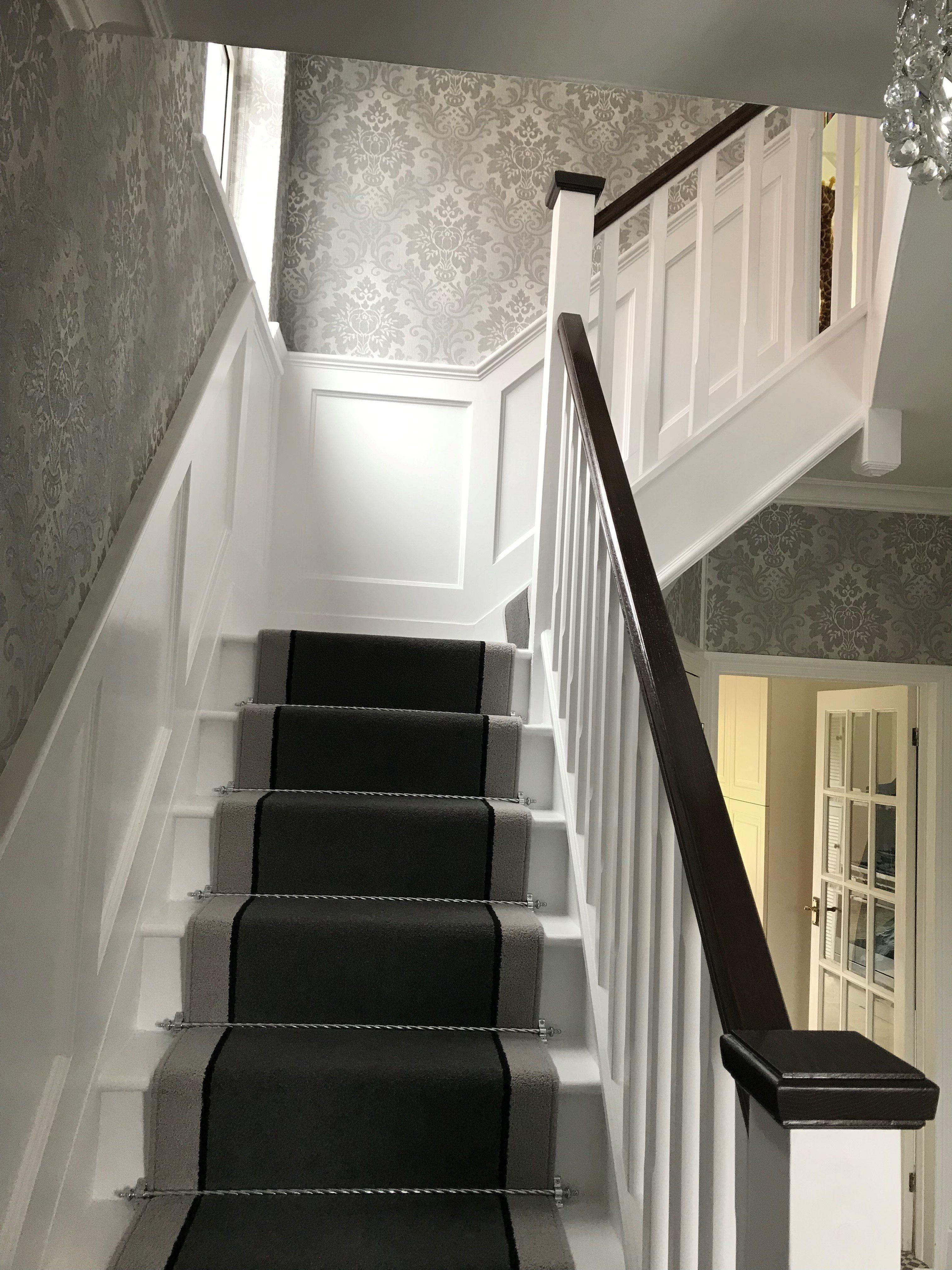 Brintons Bell Twist Smoke Ebony Pumice Stair Runner In   Twist Carpet For Stairs