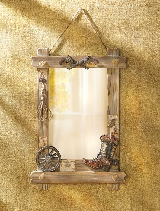 Western Wall Mirror | Wagon wheels, Cowboy boots and Ranch