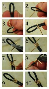 Photo of How to Finish Leather Cord with Wire  #DIY #JEWELRY How to Finish Leather Cord w…