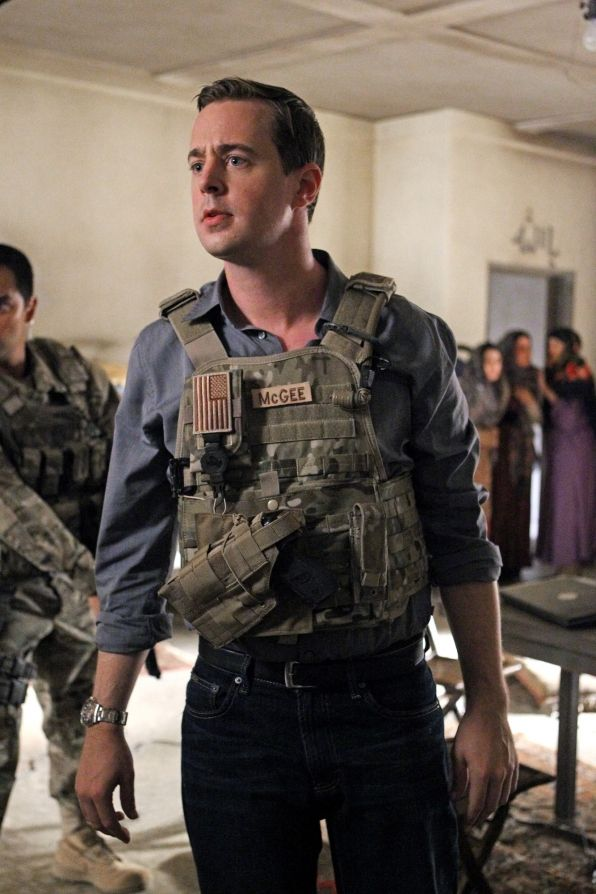 """McGee in """"Anonymous Was a Woman"""" Season 11 Episode 4 Gibbs and McGee (Sean Murray) travel to Afghanistan when a murder case leads them to an Afghan women's shelter Mike Frank's secretly supported for years, on NCIS, Tuesday, Oct. 15 (8:00-9:00 PM, ET/PT) on the CBS Television Network. Photo: Sonja FlemmingCBS ©2013 CBS Broadcasting, Inc. All Rights Reserved."""