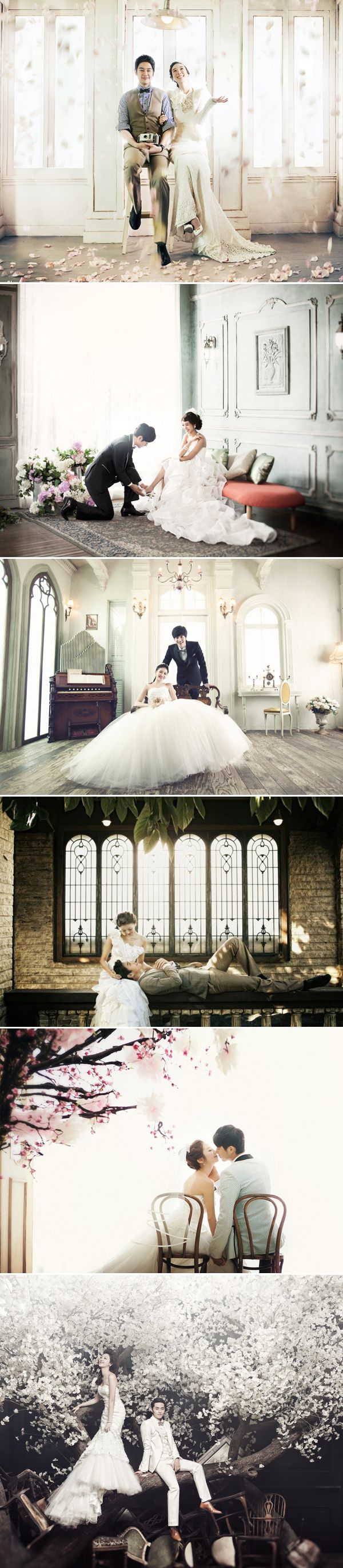 Wedding photoshoots. Korean couples (or their photographers!) have some of the most creative photo ideas I have seen.