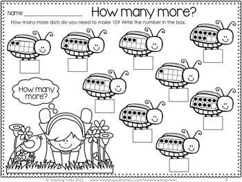 FREE beetle 'making 10' activity!