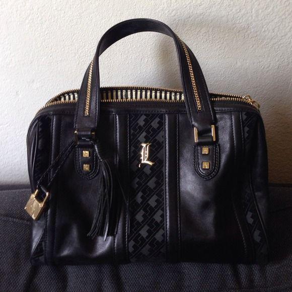 L A M B Handbags Authentic Gwen Stefani Lamb Black Handbag