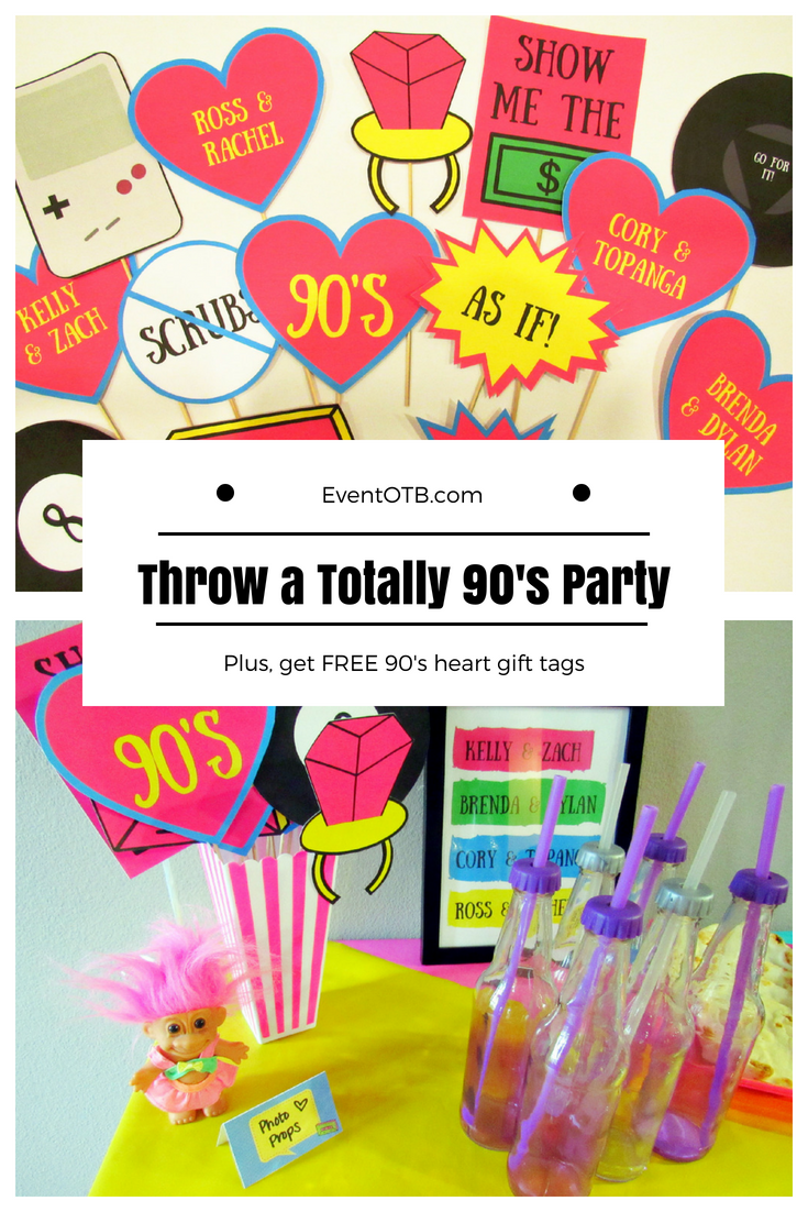 How to Throw a Rad 90's Theme Party | 90's Party Theme