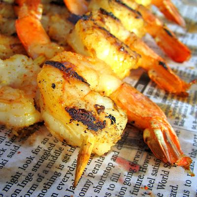 Beach-side SPICY BBQ Shrimp... HOT off that Grill!! Amazing Recipe!