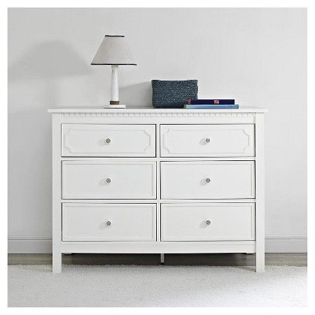 Baby Relax Rivers 6 Drawer Dresser White