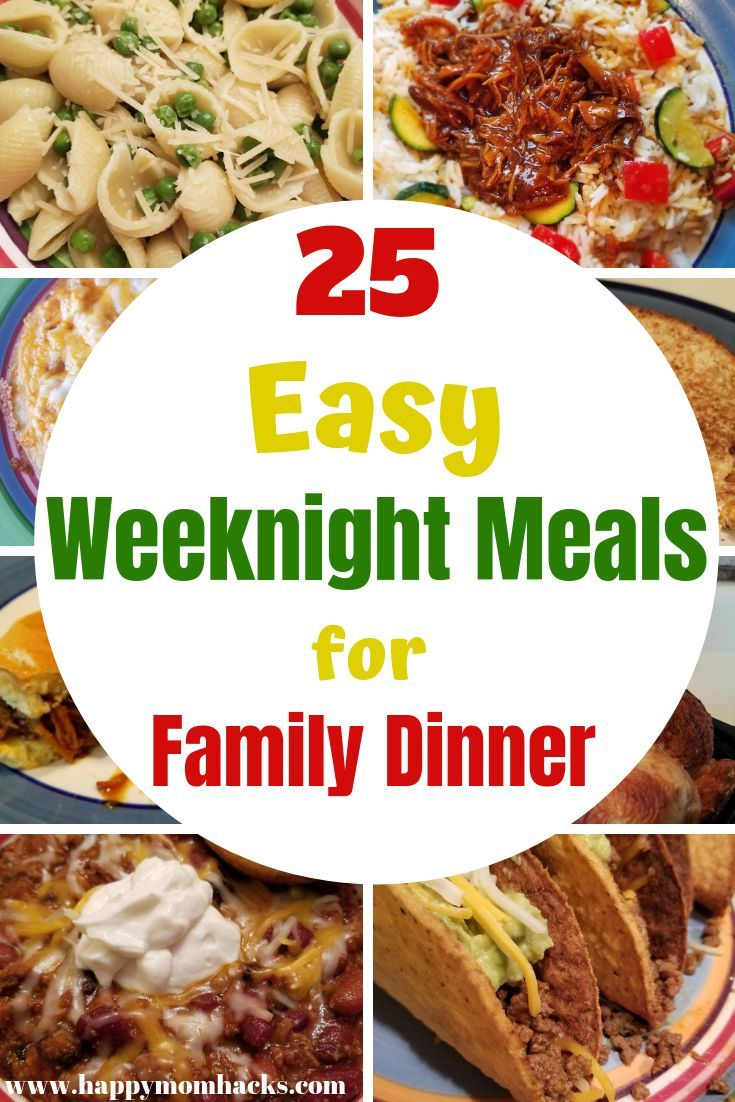 15 Best Travel Games for Kids at Dollar Tree 25 Quick & Easy Weeknight Meals for kids. The whole family will love these quick family dinners. Find great pasta, crockpot, Rotisserie Chicken meals and more. Perfect meals for week night dinners.